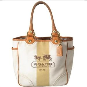 Coach | RARE Bleeker Canvas and Leather Tote